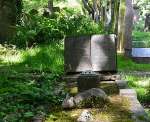 This little cat adorned a grave whose inscription I couldn't quite read in the east cemetery, Highgate. (Picture: Jackie Buckle)