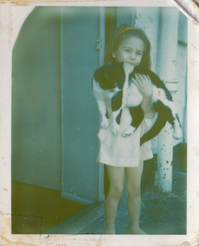 Yours truly with some poor, random cat I grabbed off the street whilst on holiday in Polperro, Cornwall. 1969
