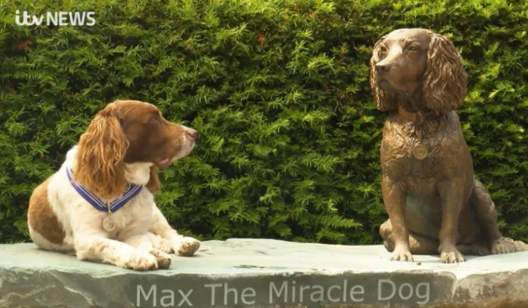 Max inspects his statue. Credit: ITV Border